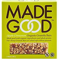 MadeGood Granola Bars-Apple Cinnamon, 24g, Pack of 5