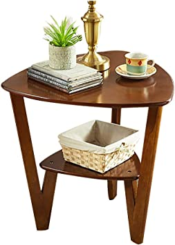 Amazon.com: Side Table End Tables Sofa Solid Wood Corner Table Living Room Side Cabinet Balcony Storage Table Bedroom Bed Table (Color : Brown, Size : 6058cm): Furniture & Decor