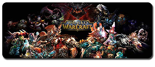 CAIYI Mouse Pad,Professional Large Gaming Mouse Pad, World of Warcraft Mouse Pad,Extended Size Desk Mat Non-Slip Rubber Mouse Mat (4, 800 x 300 x3 mm / 31.5 x 11.8 x 0.12 inch)