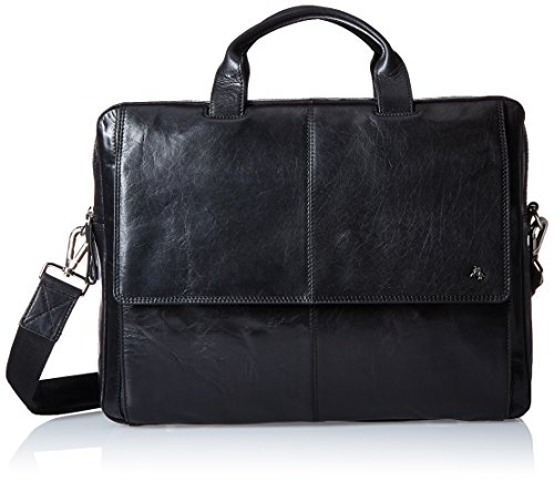 Visconti Leather (Up To 15 Inch) Laptop Computer Case Shoulder Messenger Bag, Black, One Size by Visconti