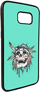 A red Indian skull Printed Case forGalaxy S7 Edge