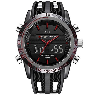 Relojes de Hombre Hombre Niños Reloj Digital Reloj Militar Reloj Deportivo Japonés Cuarzo Calendario Cronógrafo Resistente