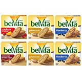 Belvita Breakfast Biscuits Variety Pack, 4 Flavors, 6 Boxes of 5 Packs