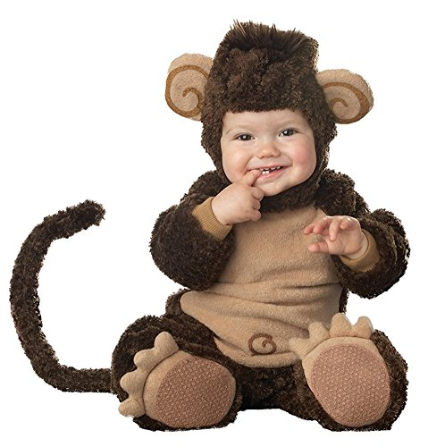 Baby Infant Costume, Deluxe Cute Toddler Halloween Animal Cosplay Photography Prop Outfit (Tag Size 90, Monkey-A)