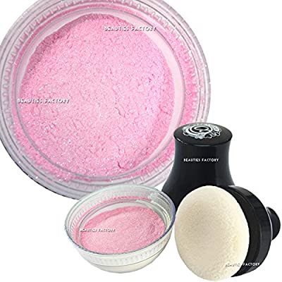 Beauties Factory Make up Smooth Glitter Shimmer Body Loose Powder with Puff - Pink