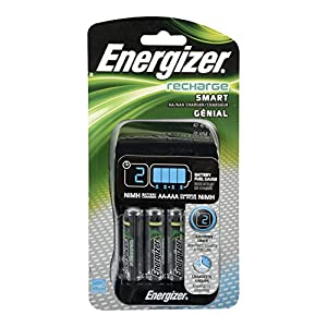 energizer smart rechargeable charger for aa aaa batteries with 4 aa batteries. Black Bedroom Furniture Sets. Home Design Ideas