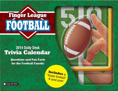 Orange Circle Studio 2014 Finger League Daily Desk Calendar, Football (11526) (Desk Executive Line Calendar)