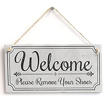 Brand-new Amazon.com: Please Take Off Your Shoes Sign: Home & Kitchen HG93