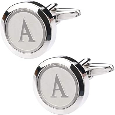 SS Personalised Letter L Initials Copper Cufflinks for Men