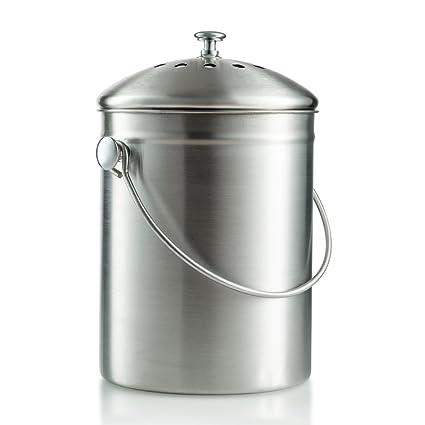 Saganizer Compost bin, Kitchen Compost bin Compost Pail 1 Gallon