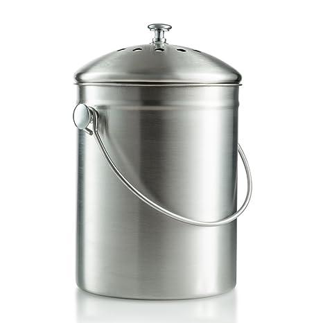 saganizer compost bin kitchen compost bin compost pail 1 gallon - Kitchen Composting Pail