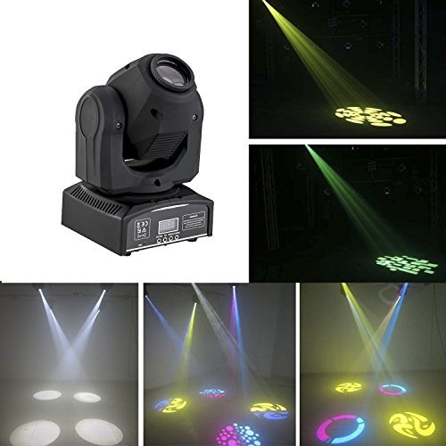 60W LED Moving Head Lighting spot lighting dj set gobo christmas lights dj light projector for bar party event