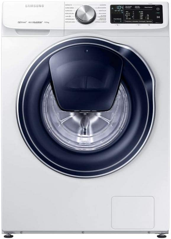 Samsung - Lavadora QuickDrive™ Serie 6 9kg WW90M645OPW, A+++, Carga Frontal, Blanco, LED