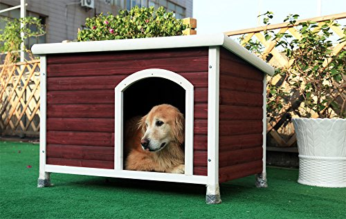 Petsfit 40.8 X 26 X 27.6 Inches Wooden Dog Houses, Dog House Outdoor