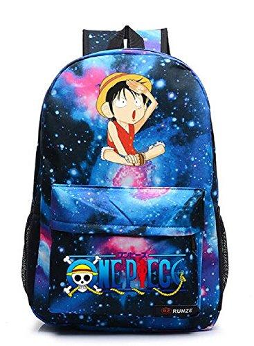 Yoyoshome  One Piece Anime Luffy Zoro Cosplay Daypack Backpack School Bag