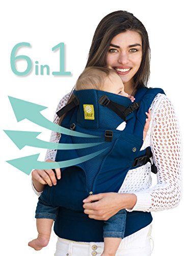 LÍLLÉbaby The COMPLETE All Seasons SIX-Position, 360° Ergonomic Baby & Child Carrier, Black - Cotton Baby Carrier, Comfortable and Ergonomic, Multi-Position Carrying for Infants Babies Toddlers