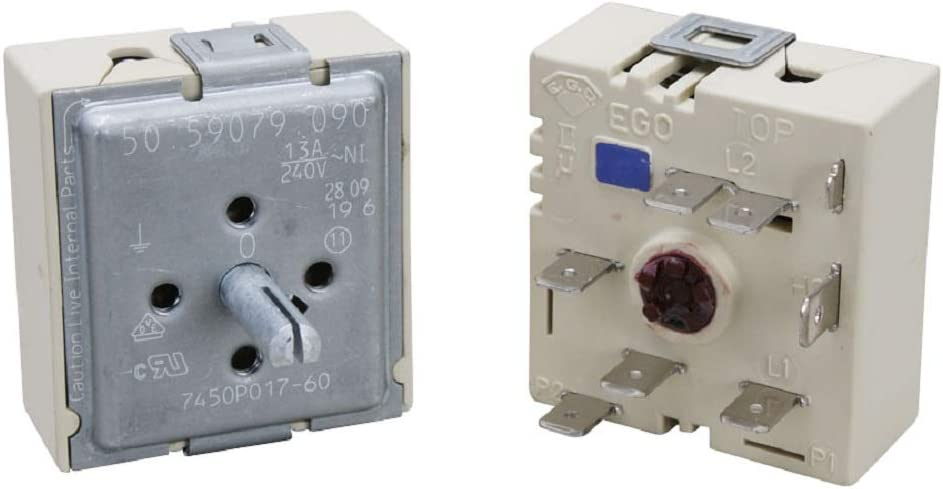 Edgewater Parts 74003122 Dual Surface Unit Switch Kit for Whirlpool, Maytag, Jenn-Air Range