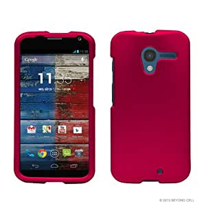Rose Pink Hard Rubberized Protective Case Cover for Google Motorola X Phone