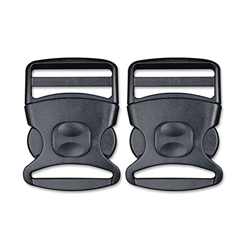 DYZD 2 inch(50mm) Plastic Buckle Side Release Buckles Adjustable Buckles with Security Lock (2 PCS,Black) (Replacement Primary Belts)