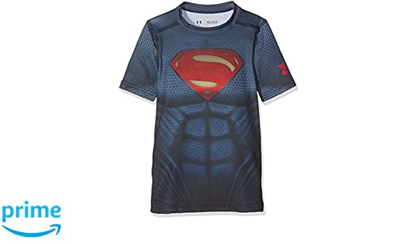 beb551bc6fcdad Amazon.com: Under Armour Junior Superman T- Shirt - SS17 - Small - Navy  Blue: Sports & Outdoors