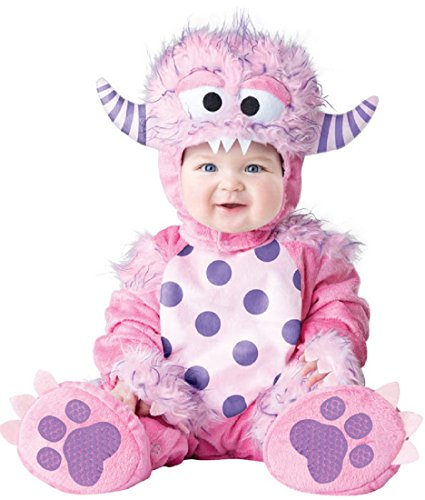 InCharacter Baby Girls' Lil' Monster Costume, Pink, Large