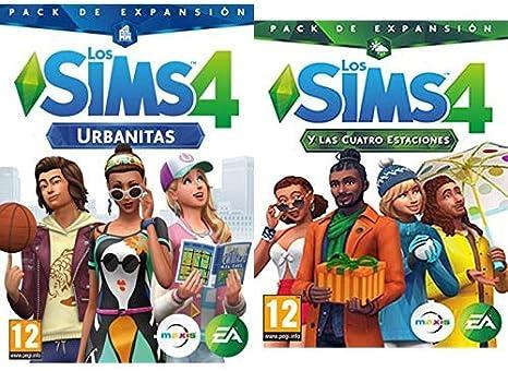 Los Sims 4: Urbanitas (PC) & y las cuatro estaciones (La caja ...