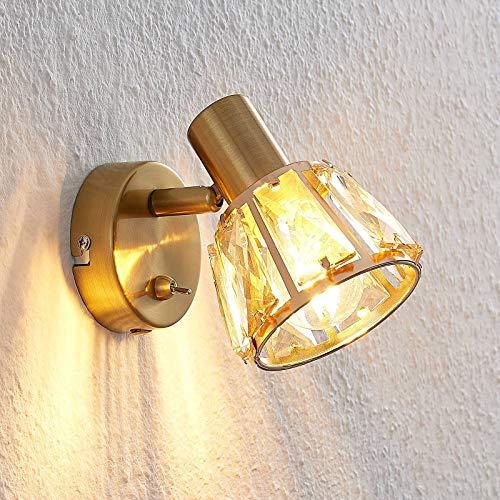 Lindby wandlamp 'Kosta' (modern) in Messing uit overige metaal o.a. voor woon-/ eetkamer – wandlamp, muurlamp…
