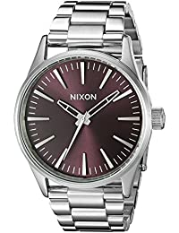 Nixon Men's A4502157 Sentry 38 SS Analog Display Japanese Quartz Silver Watch