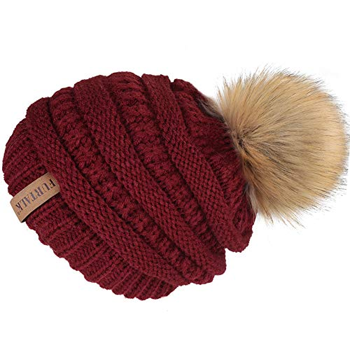 Qualified Family Matching Hat Autumn Baby Girls Boys Winter Warm Gorros Para Bebe Faux Fur Pompom Ball Kids Knitted Beanies Hat Apparel Accessories Women's Skullies & Beanies