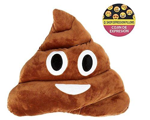 Qs 11x12 Poop Poo Emoji Emoticon Cushion Pillow Brown Stuffed USA Seller (Poo (Poo Pillow)