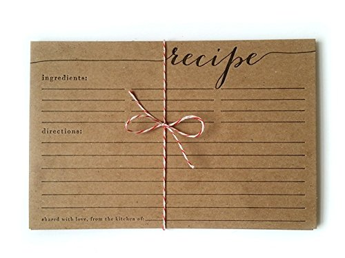 recipe cards letterpress kitchen country