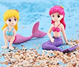 GHTERT 4 Pcs Miniature Mermaid Figurines, Mermaid