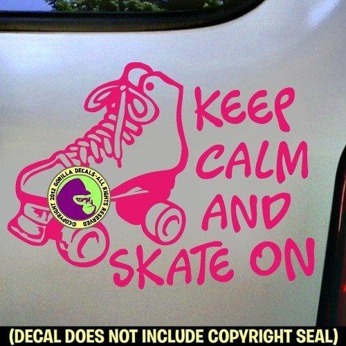 KEEP CALM SKATE ON Roller Skating Vinyl Decal Sticker C