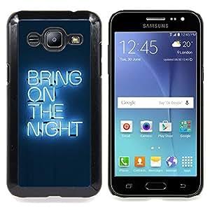 Bring On The Night Neon Caja protectora de pl??stico duro Dise?¡Àado King Case For Samsung Galaxy J2