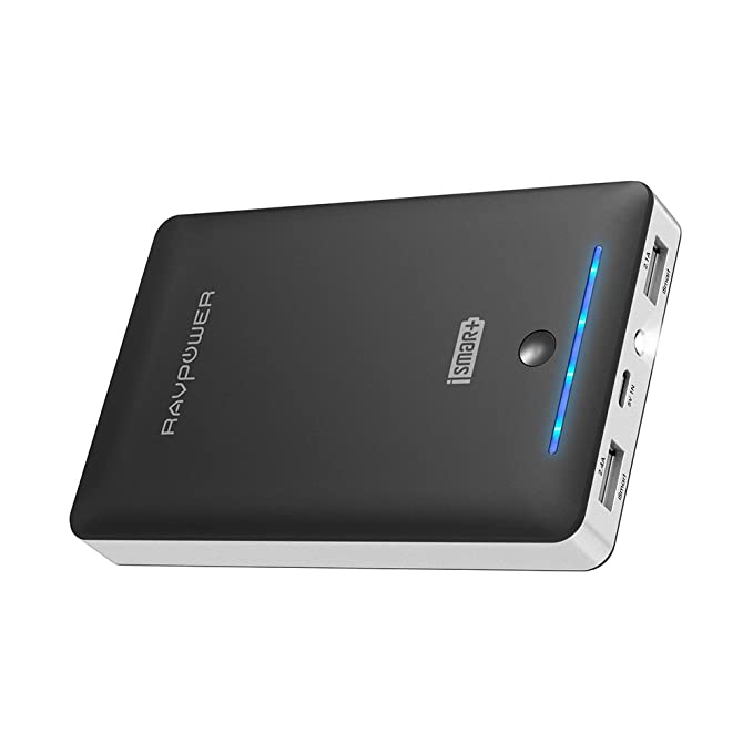 External Battery Pack RAVPower 16750mAh Portable Charger, Time-Tested Phone Charger with Dual 2.0 USB Ports & Flashlight, 4.5A Max Output Cell Phone Battery Power Pack for iPhone & Android Devices