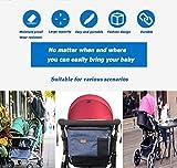 Stroller Organizer Bag,Fits All Baby Stroller Models.Travel Bag with Shoulder Strap for Carrying Bottles,Diapers,Toys & Snacks.Cup Holder & Storage Pockets,Best Stroller Organizer for Smart Moms