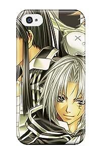 Faddish Phone Black Groups Anime Dgray-man Allen Walker Kanda Yuu Case For Iphone 4/4s / Perfect Case Cover
