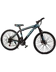 MEILOR Adult bike,21 speed, Wheel Size 26 INCH, with front fork assist,Disc Brake,Reflective Wheel - Black/Blue, Adult mountain bike
