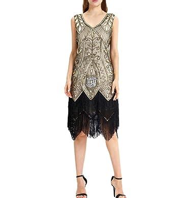 3be2edb057c Women s Vintage Gatsby Prom Sleeveless Dress