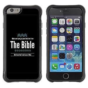 Suave TPU GEL Carcasa Funda Silicona Blando Estuche Caso de protección (para) Apple Iphone 6 PLUS 5.5 / CECELL Phone case / / BIBLE Doctrine From The Bible /