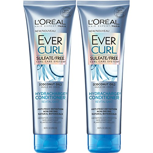 LOreal Paris Hair Care Evercurl Hydracharge Conditioner Sulfate Free, 2 Count