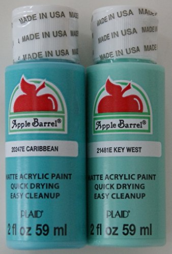 Apple Barrel Acrylic Paint Set - Caribbean and Key West (2 Ounces -