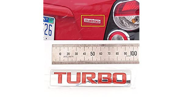 Trasera Turbo Emblema para GM Chevrolet Cruze TRAX Sonic OEM Partes: Amazon.es: Coche y moto