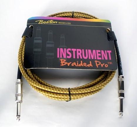 Cable para guitarra eléctrica Pro 304,8 cm (3 m) amarillo no hace ...