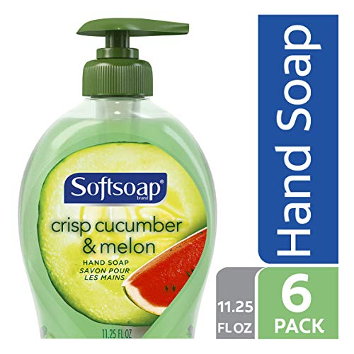 Softsoap Liquid Hand Soap, Crisp Cucumber and Melon - 11.25 fluid ounce (6 Pack) (Best E Liquid Shop)