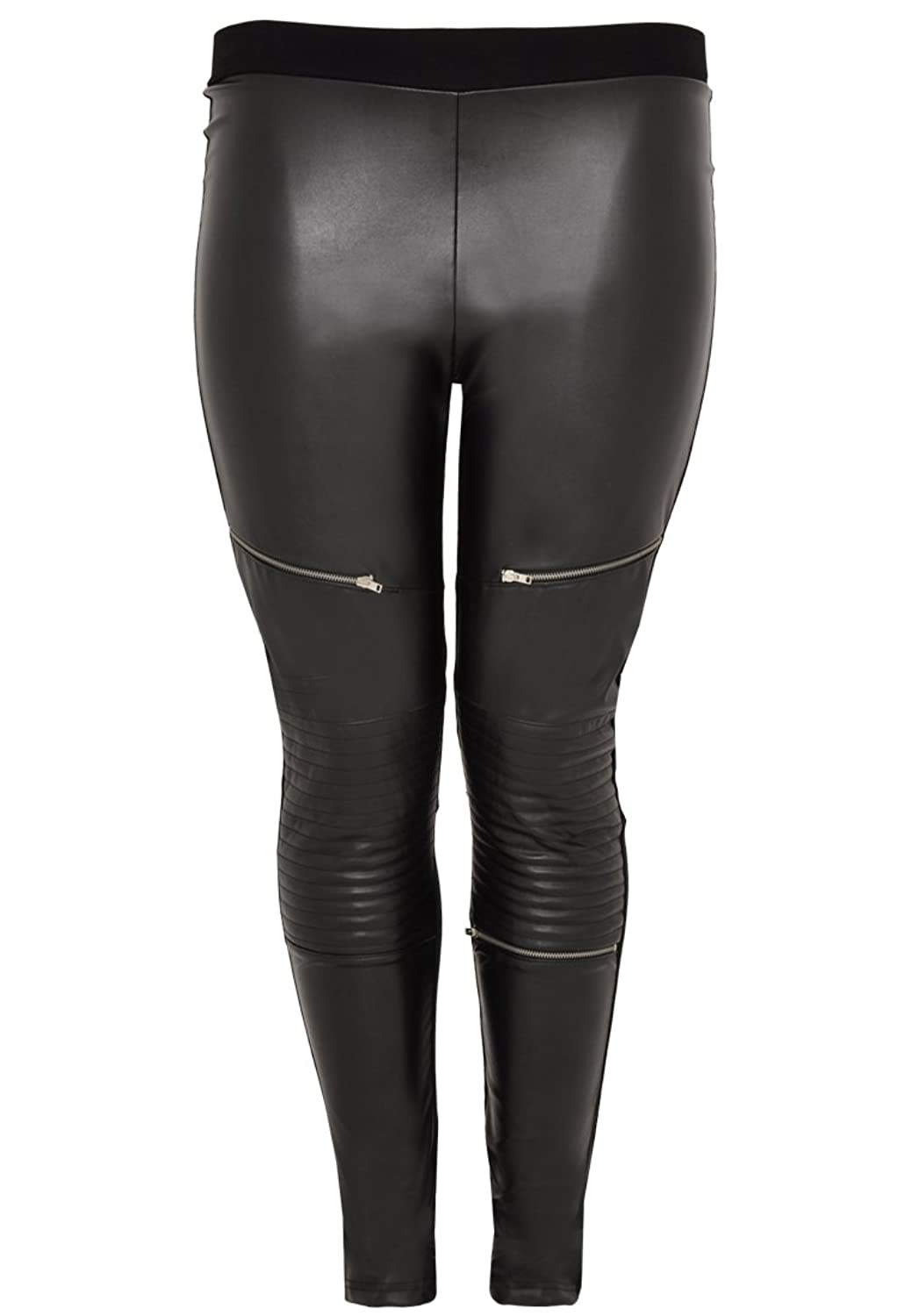 Yoek Damen Leggings aus Kunstleder Plus Size