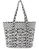 Floral Quilted Cotton Tote Bag