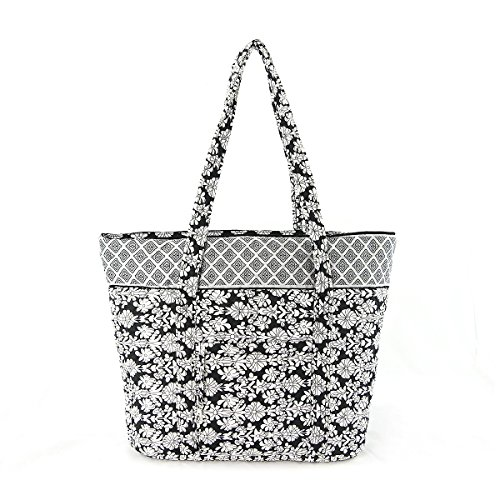 Quilted Zippered Fashion Tote - 1