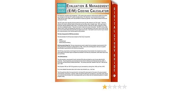 Amazon Com Evaluation Management E M Coding Calculator Speedy