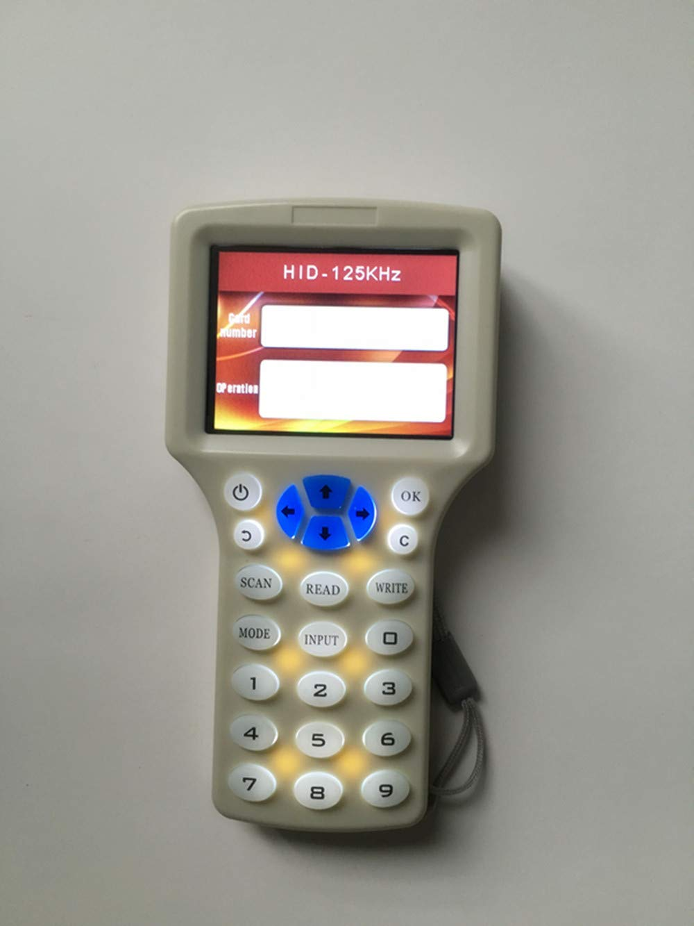1 USB 10pcs ID 125kh Keyfobs English 10 Frequency NFC RFID Card Copier Reader Writer Duplicator for IC ID Cards and All 125kHz Cards,10pcs ID 125khz Cards 10pcs 13.56mhz UID Key